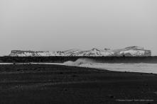 Hjörleifshöfði viewed from the Black Sand Beach in Vik.