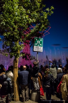 "Light & Sound exibition in front of the ""Albero della Vita"" at EXPO Milano 2015. Nikon D810, 24 mm (24-120.0 ƒ/4) 1/200″ ƒ/4 ISO 12800"