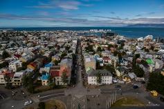 Reykjavik from above Hallgrímskirkja. Nikon D810 24.0mm (24.0mm ƒ/1.4) 1/800 sec ƒ/5.0 ISO 64