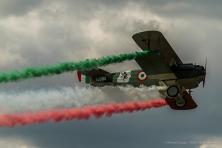 A Spad XIII similar to the biplane of WW1 Italian ace pilot Francesco Baracca. Nikon D810, 360 mm (80-400.0 mm ƒ/4.5-5.6) 1/2000 sec ƒ/5.6 ISO 400