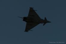 The Eurofighter of the Reparto Sperimentale Volo in flight over the crowd. Nikon D810, 400 mm (80-400.0 mm ƒ/4.5-5.6) 1/2000 sec ƒ/5.6 ISO 400