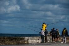 """More fishing from the Casillo de San Salvador de la Punta. Nikon D750, 320 mm (80-400.0 mm ƒ/4.5-5.6) 1/400"""" ƒ/10 ISO 100"""