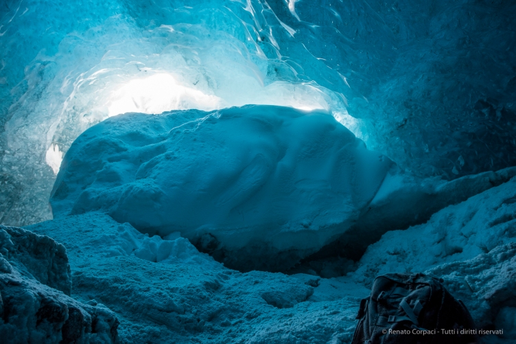 "The ice cave entrance viewed from within. D810 24 mm (24.0 mm ƒ/1.4) 1/20"" ƒ/4 ISO 800"