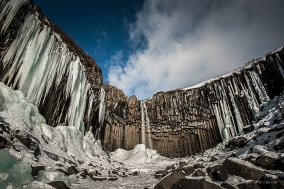"Skaftafell, Svartifoss fall, among the typical basalt columns. Nikon D810, 20 mm (20.0 mm ƒ/1.8) 6"" ƒ/8 ISO 64, Lee big stopper, HD 10 S filter"
