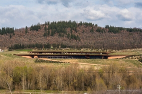 """Antinori's wine caves from across the valley. Nikon D810, 85 mm (85.0 mm ƒ/1.4) 1/200"""" ƒ/9 ISO 200"""