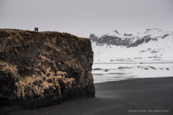 """The cliff overlooking the Black Sand Beach near Vik, Iceland. Nikon D810, 85 mm (85.0 ƒ/1.4) 1/100"""" ƒ/3.2 ISO 64"""