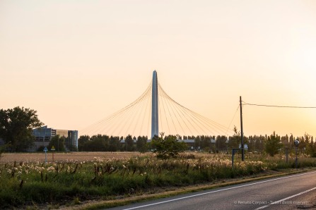 """Santiago Calatrava. Reggio Emilia, Three bridges """"Le Vele"""". Nikon D750, 80 mm (80-400.0 mm ƒ/4.5-5.6) 1/125"""" ƒ/7.1 ISO 100"""