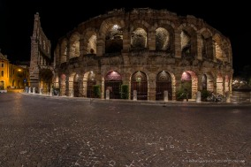 """After the performance: the Arena at night. Nikon D810, 16 mm (16.0 mm ƒ/2.8) 15"""" ƒ/10 ISO 64"""