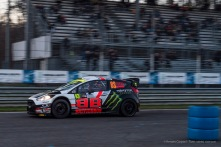 """The Brivio brothers on a Ford Fiesta, fifth on arrival at the Monster Energy Monza Rally Show 2016. Nikon D810, 120 mm (24-120.0 mm ƒ/4) 1/30"""" ƒ/4 ISO 3200"""