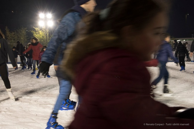 "Chrismas pattinoire in Piazza Gae Aulenti in Milan, December 2016. Nikon D750, 24 mm (24-120.0 mm ƒ/4) 1/25"" ƒ/11 ISO 1600"