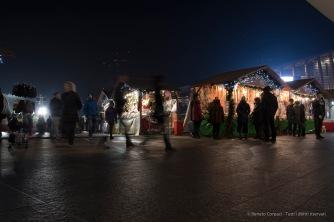 "Chrismas market, Piazza Gae Aulenti in Milan, December 2016. Nikon D750, 24 mm (24-120.0 mm ƒ/4) 1/5"" ƒ/8 ISO 400"