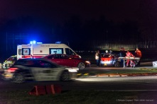 """Aftermath of the accident at the first chicane at the Monster Energy Monza Rally Show 2016. Nikon D810, 120 mm (24-120.0 mm ƒ/4) 1/50"""" ƒ/4 ISO 3200"""