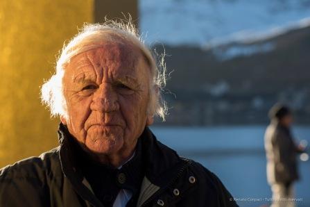 "Heinz Mack, following the unveiling of ""The Sky Over Nine Columns"". Sankt Moritz, December 10th 2016. Nikon D810, 85 mm (85.0 mm ƒ/1.4) 1/100"" ƒ/4.5 ISO 31"