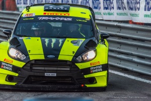 "Valentino Rossi and Carlo Cassina winners of the Monster Energy Monza Rally Show 2016. on a Ford Fiesta WRC 1.6. Nikon D810, 120 mm (80-400.0 mm ƒ/4.5-5.6) 1/800"" ƒ/6.3 ISO 2500"