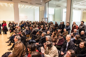 "Full house at the presentation of Gillo Dorfles' show at the Milano Palazzo della Triennale, January 2017. Nikon D750, 24 mm (24.0 mm ƒ/1.4) 1/160"" ƒ/1.4 ISO1600"