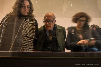 "Visitors at Gillo Dorfles' show at the Milano Triennale Palace in 2017. Nikon D750, 24 mm (24.0 mm ƒ/1.4) 1/4"" ƒ/8 ISO 400"