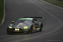 "Paul Dalla Lana's Aston Martin Vantage V8 entering Lesmo 1 Nikon D750, 400 mm (80-400.0 mm ƒ/4.5-5.6) 1/800"" ƒ/8 ISO 500"