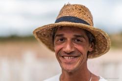 Isacco, tour guide. Salinas d'Es Trenc, Mallorca, September 2017. Nikon D810, 85 mm (85.0 mm ƒ/1.4) 1/2000 ƒ/1.4 ISO 64