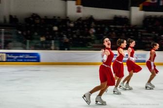 Palasesto, synchronized skating tournament. Sesto S. Giovanni, Februry 2015. Nikon D810 340 mm (80-400 mm ƒ/4.5-5.6) 1/60 ƒ/10 ISO 3200
